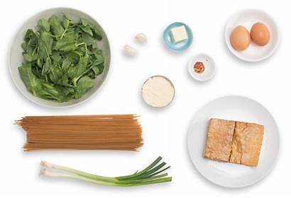 Tofu Whole Smoked Wheat Carbonara Spaghetti Pea