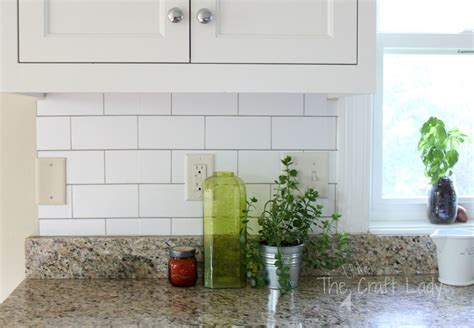 how to do kitchen backsplash white subway tile temporary backsplash the tutorial