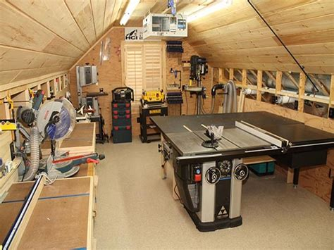 office desk  small spaces small woodworking shop ideas