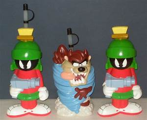 Looney Tunes Water Drink Bottle Lot Marvin the Martian Taz ...