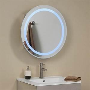 Miroir Rond Salle De Bain : mille et une id es pour choisir le meilleur miroir lumineux ~ Nature-et-papiers.com Idées de Décoration