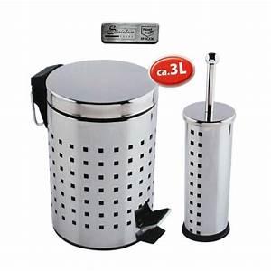 Wc Garnitur Set : edelstahl wc garnitur set toilettenb rste und m lleimer abfalleimer papierkorb ebay ~ Orissabook.com Haus und Dekorationen
