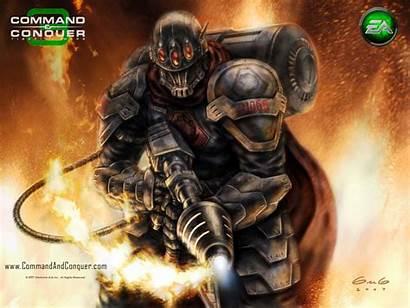 Flamethrower Soldier Tiberium Wars Conquer Command War