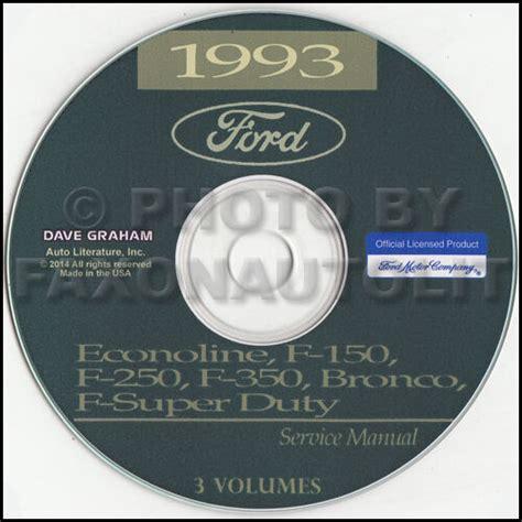 ford van shop manual cd econoline    club