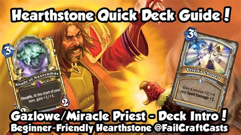 Priest Deck Hearthstone Kft by Hearthstone Deck Intro Guide Miracle Mirage Priest