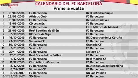 la liga table 2016 17 calendario fc barcelona laliga 2016 17