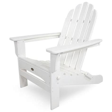 Trex Adirondack Chairs Home Depot by Trex Outdoor Furniture Cape Cod Classic White Folding