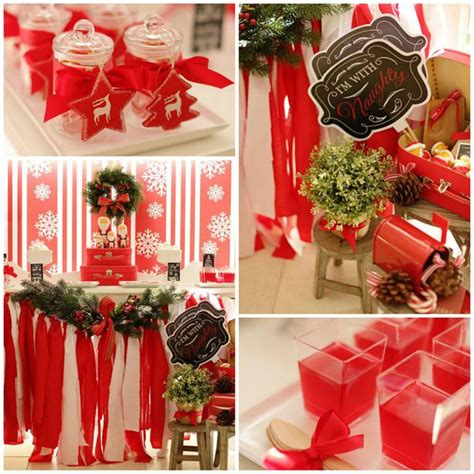 Kara's Party Ideas Red And White Christmas Party {ideas