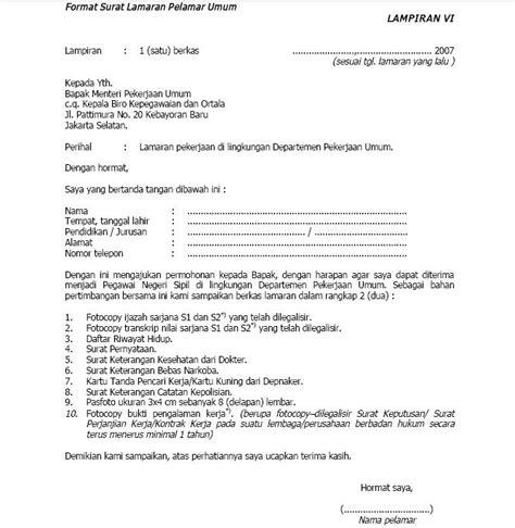 Contoh Surat Lamaran Calon Pns Kejaksaan Agung by Contoh Surat Lamaran Kerja Aneka Info Aneka Resep
