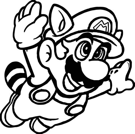 Super Mario Fly Coloring Page Printable Free Coloring Books