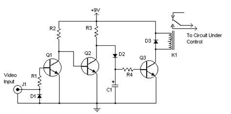 Vcr Antenna Switch Circuit Diagram by Activated Relay