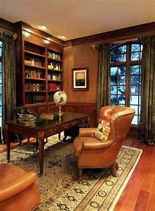 33 Stylish And Dramatic Masculine Home Office Design Ideas ...