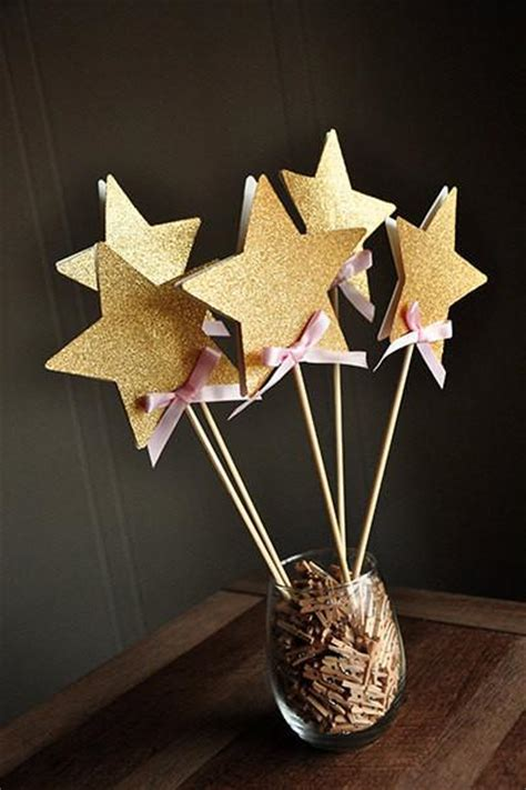 fairy wands  pink  gold birthday party decoration