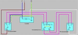 Serienschalter Wechselschalter Unterschied : schaltungen tasterschaltung wechselschaltung ~ Lizthompson.info Haus und Dekorationen