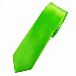 Plain Citrus Green Skinny Tie from Ties Planet UK