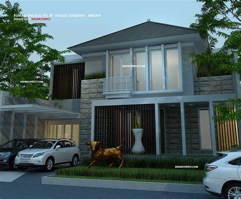 desain rumah modern minimalis 2 lantai type 500 m2