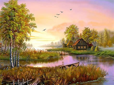 lovely nature art wallpaper desktop hd wallpaper