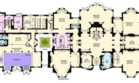 24 beautiful mansions floor plans house plans
