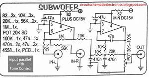 Circuit Diagram Of Ic Ka 4558 As A Line Amp In Audio Amp
