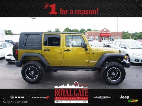 green jeep rubicon unlimited 2010 rescue green metallic jeep wrangler unlimited rubicon