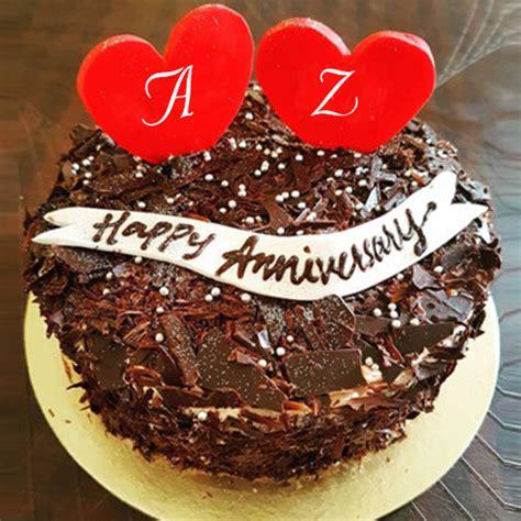 happy anniversary wishes cake  couple alphabet images