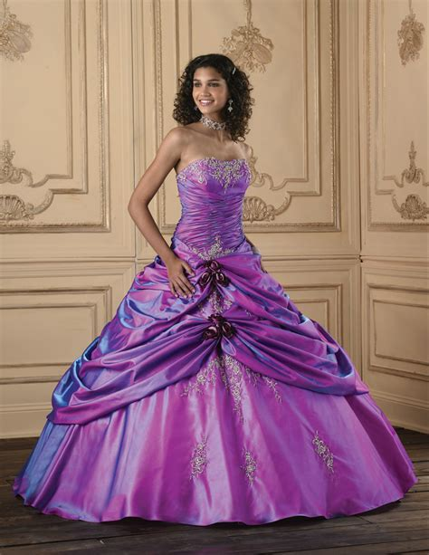 BallGown One Shoulder Taffeta Floor length Purple Lace up