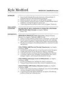 research assistant resume research assistant resume exle sle