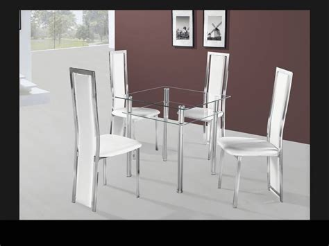 clear glass dining table and 4 chairs small square clear glass dining table and 4 chairs