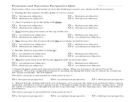 pronoun worksheets 6th grade worksheets releaseboard