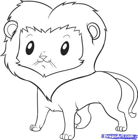 easy lion step  safari animals   drawing