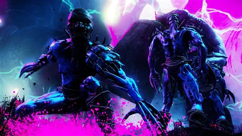 shadow warrior  pink neon blue enemy wallpapers hd