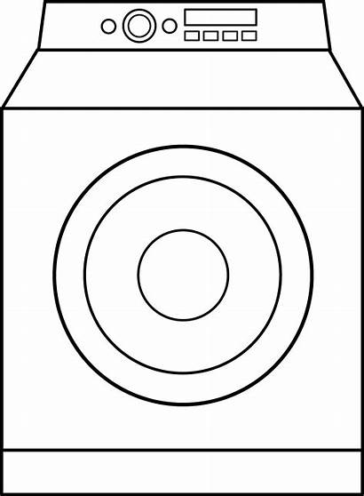 Washing Machine Drawing Washer Clip Clipart Coloring