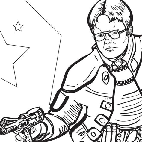 The Office Dwight Funny printable pdf adult coloring sheet ...