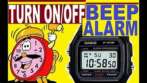 How To Turn On  Off Beep On Casio F