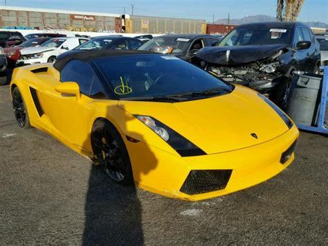 crashed lamborghini for sale zhwgu22t16la03934 2006 yellow lamborghini gallardo s on