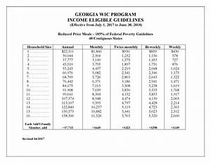 Medicaid Eligibility Income Chart 2018 Eligibility Income Guidelines Georgia Department Of