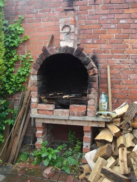 work   bbq     pizza oven