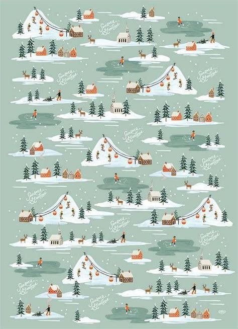 snow wrapping sheets paper rifle paper co