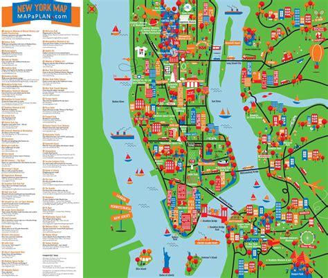 New York Sehenswürdigkeiten Karte
