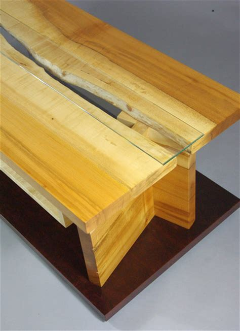 maple  edge slab tv cabinet rugged cross fine art