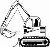 Bulldozer Coloring Side Pages Wecoloringpage sketch template