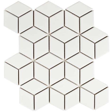 Home Depot Merola Hex Tile by Merola Tile Metro Rhombus Matte White 10 1 2 In X 12 1 8