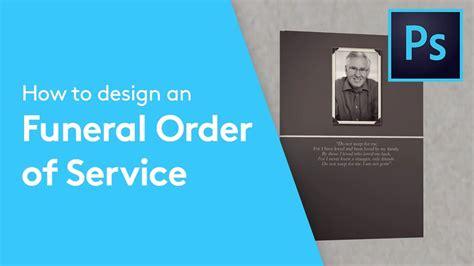 design  funeral programme order  service