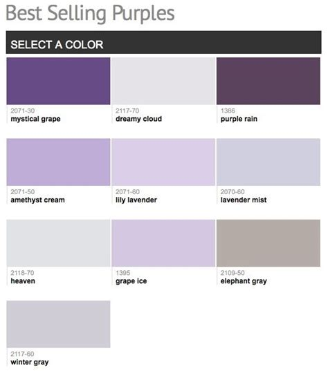 best selling popular shades of purple violet paint