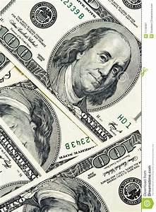 Close-up Money Dollars Background Stock Image