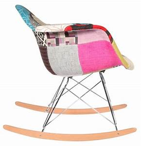 Chaise Scandinave A Bascule : chaise bascule rar patchwork style eames secret design ~ Teatrodelosmanantiales.com Idées de Décoration