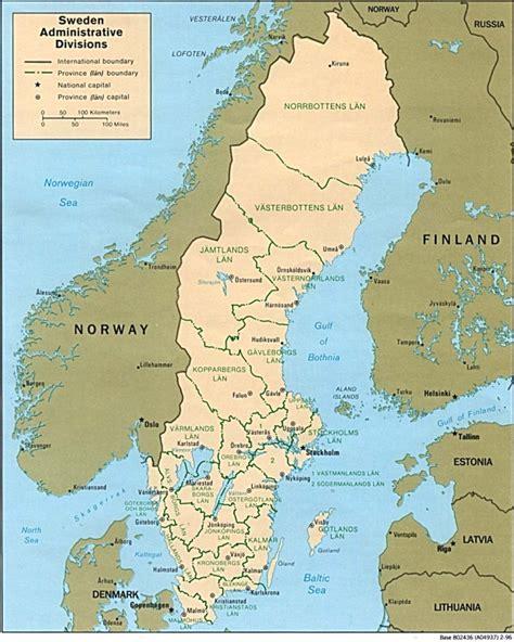 Ģeogrāfiskā karte - Zviedrija - 979 x 1,223 Pikselis - 207 ...