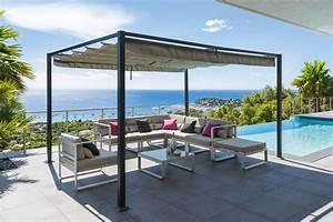 Tonnelle Terrasse : tonnelle elliston ardoise 3 x 4 m acier polyester ~ Melissatoandfro.com Idées de Décoration