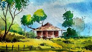 Easy Scenery Paintings For Beginners Watercolor Painting ...