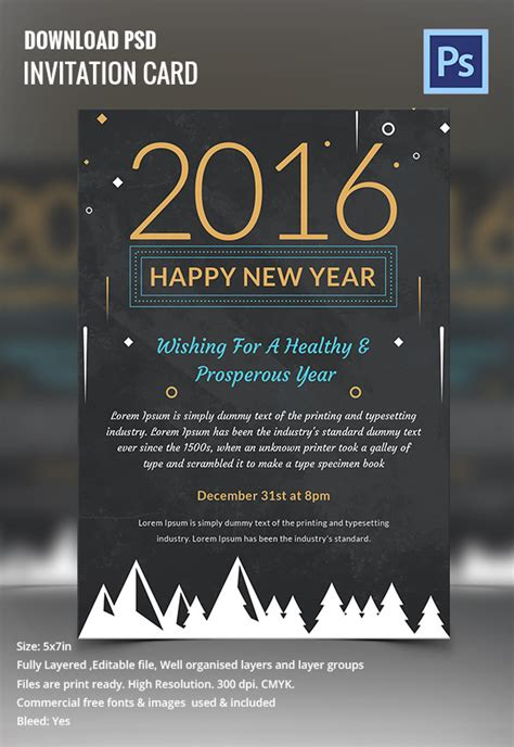 year invitation templates  word  psd